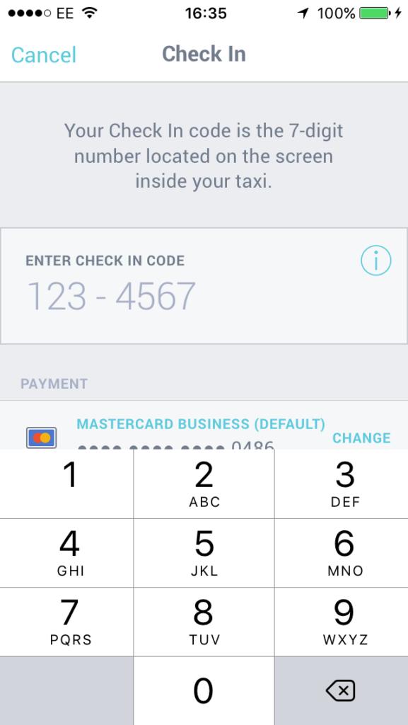 Passenger enters pairing code into ARRO app